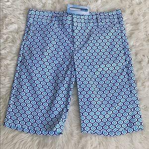NWT Fairway Fox geo pattern  golf shorts 8